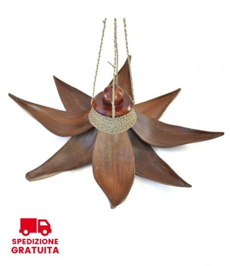 Lampadario Stella di Bali - 8 foglie