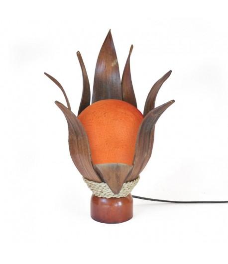 Lampada Occhio Di Bali - 8 Foglie Cocco